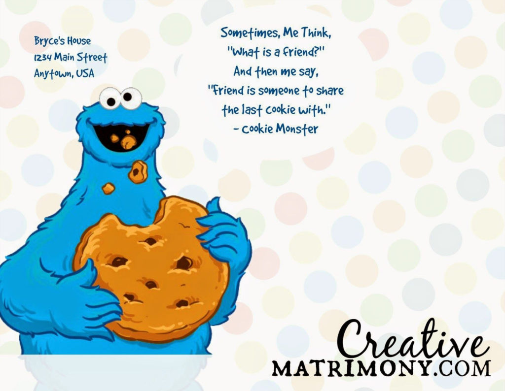 FREE PRINTABLE Adorable Sesame Street Themed Birthday