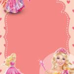 FREE Printable Barbie Birthday Invitation Templates DREVIO