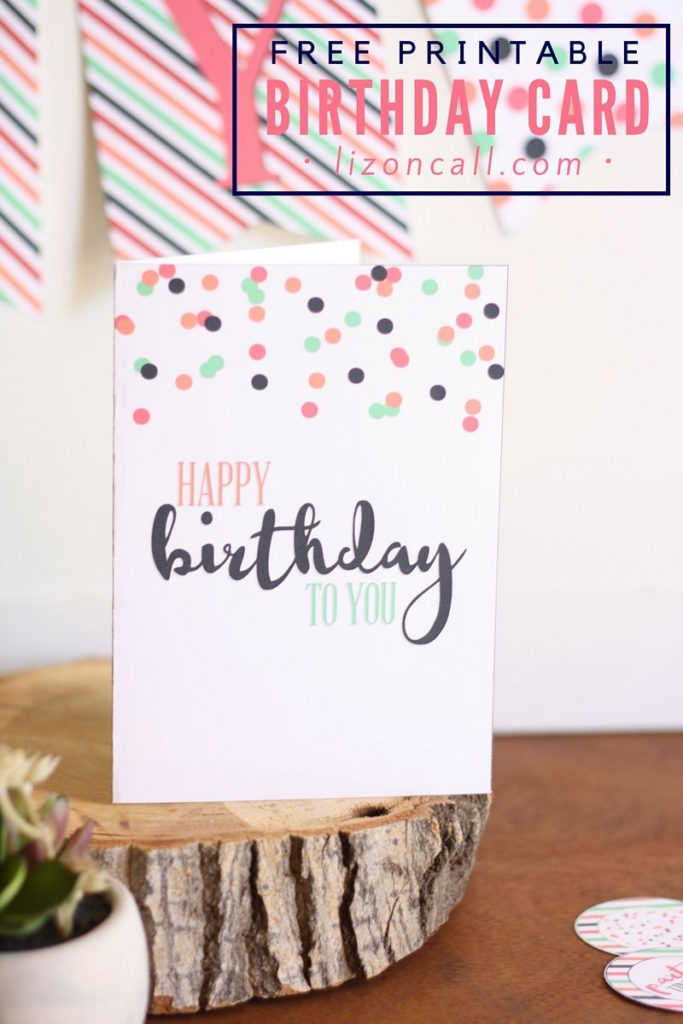 Free Printable Birthday Card And A Giveaway Free