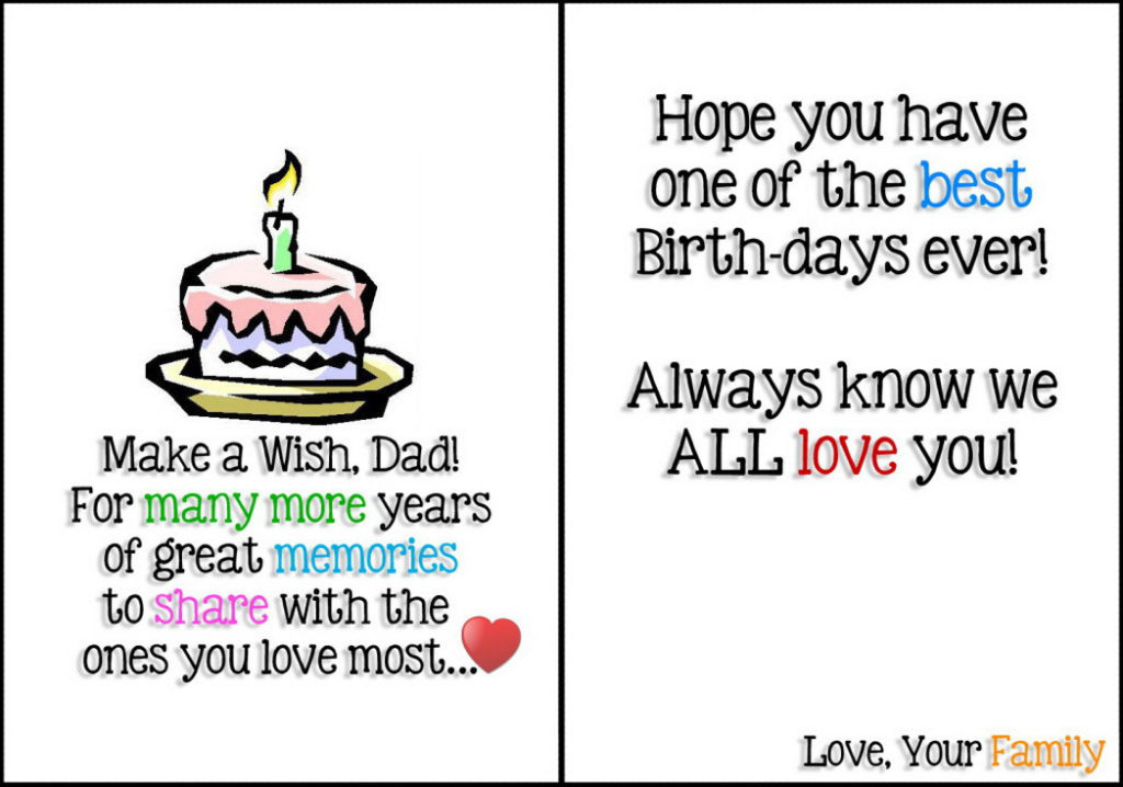Free printable birthday cards for dad printables
