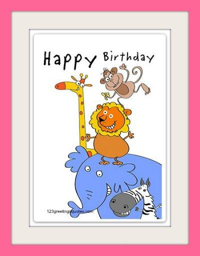 Free Printable Birthday Cards For Kids Cute Boys Girls