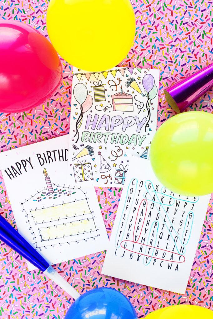 Free Printable Birthday Cards For Kids Studio DIY