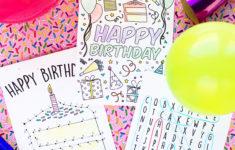 Printable Birthday Cards Free Kids