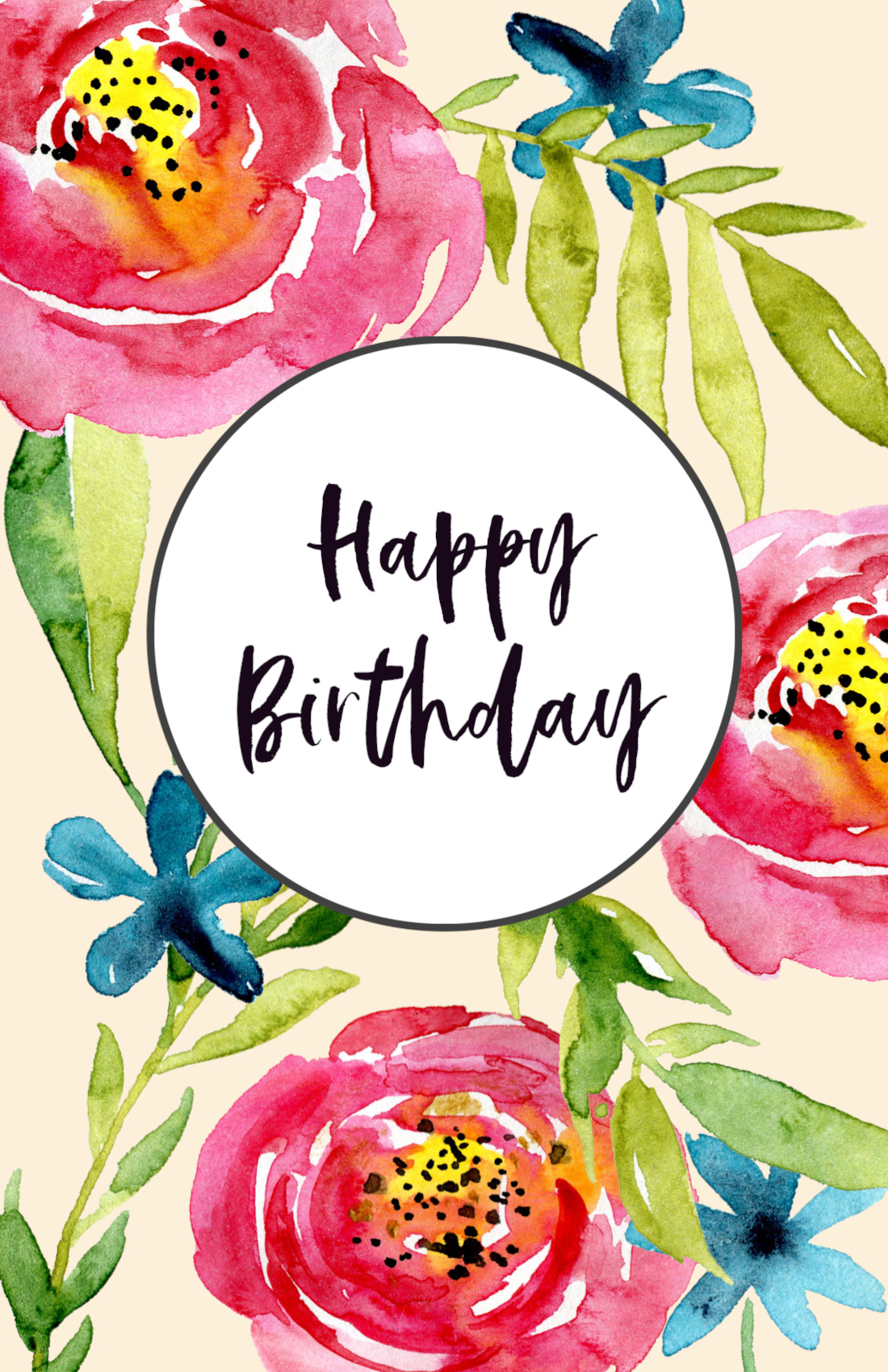 Free Printable Birthday Cards Paper Trail Design