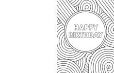Birthday Cards To Color In Printable