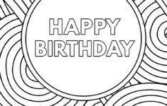 Free Printable Birthday Cards Coloring