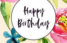 Birthday Greeting Card Printable