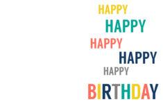 Printable 4 Fold Birthday Cards