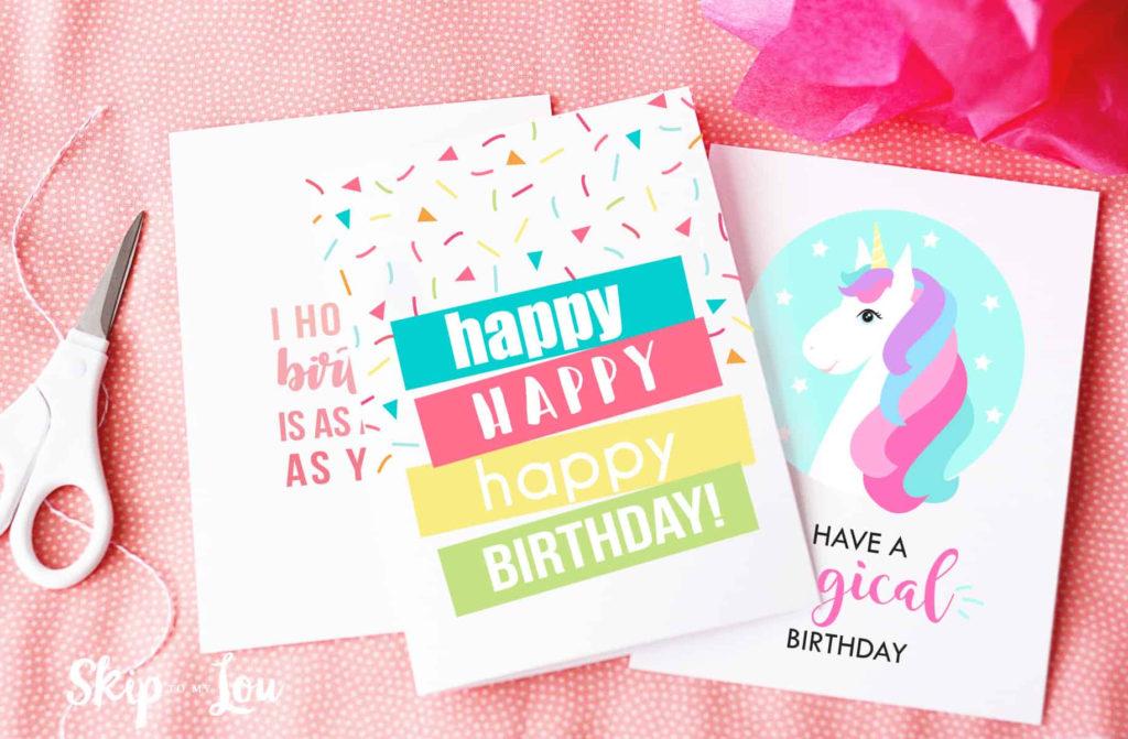 Free Printable Birthday Cards Skip To My Lou
