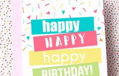 Template Free Printable Birthday Card