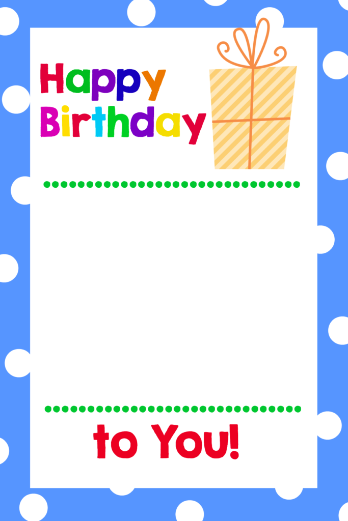 Free Printable Birthday Cards That Hold Gift Cards