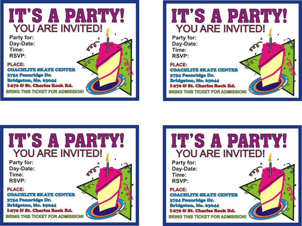 Free Printable Birthday Invitations Free Printable