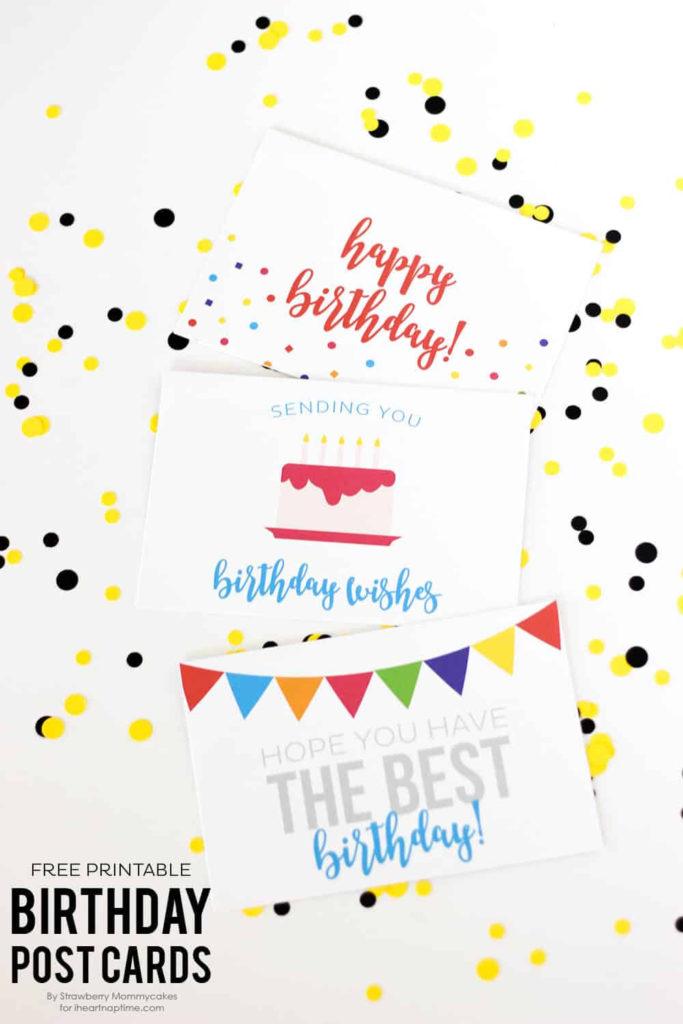FREE Printable Birthday Postcards I Heart Nap Time