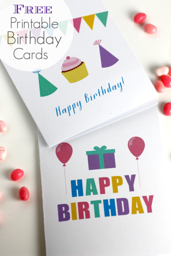 Free Printable Blank Birthday Cards Catch My Party