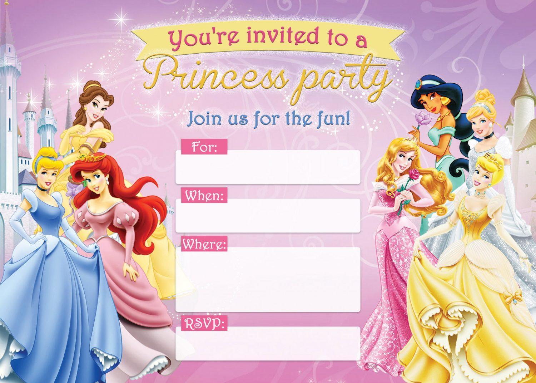 princess birthday invitation card free printable