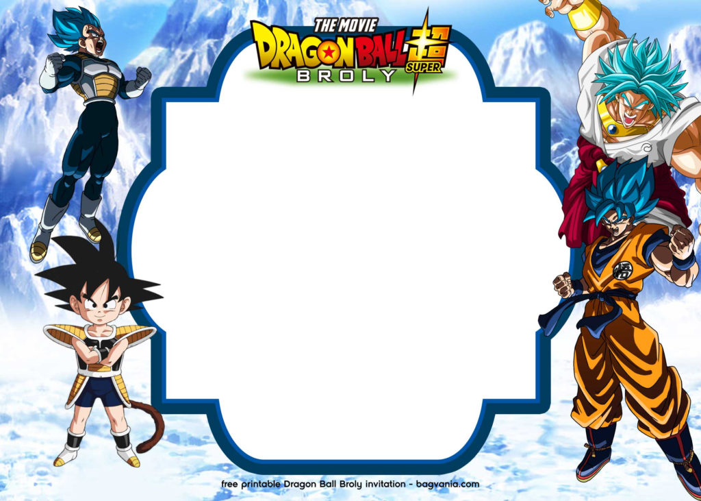 FREE Printable Dragon Ball Super Broly Invitation