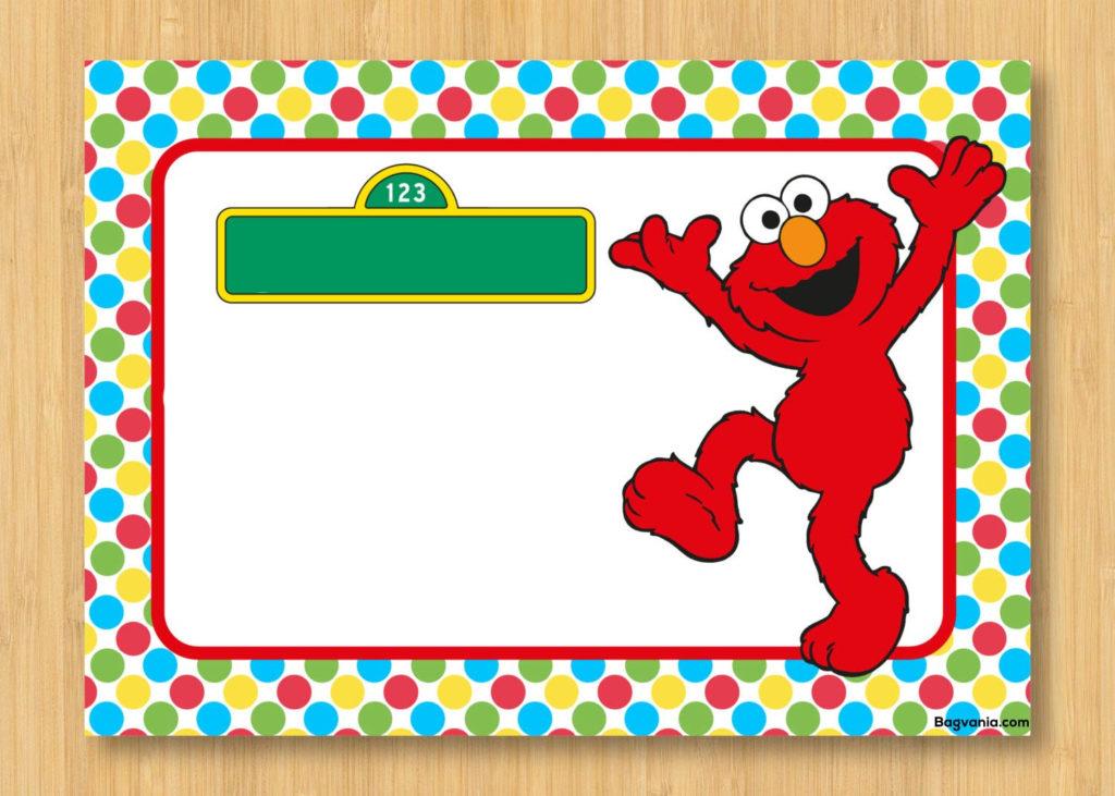 Free Printable Elmo Birthday Invitations Bagvania FREE