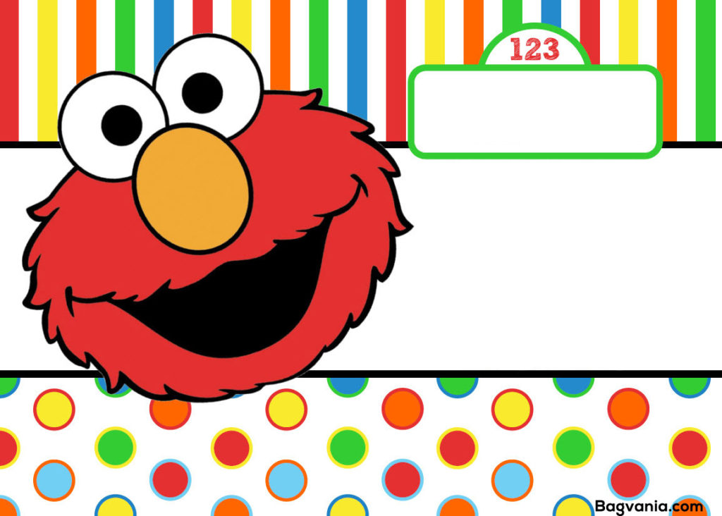 Free Printable Elmo Birthday Invitations FREE Printable