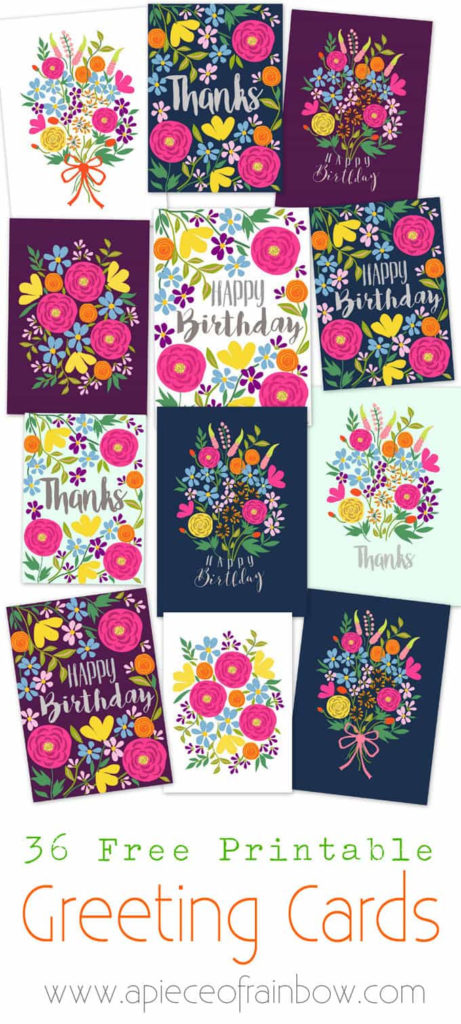 Free Printable Flower Greeting Cards A Piece Of Rainbow