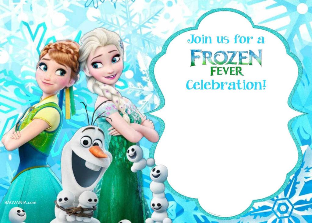 FREE Printable Frozen Invitation Templates Bagvania