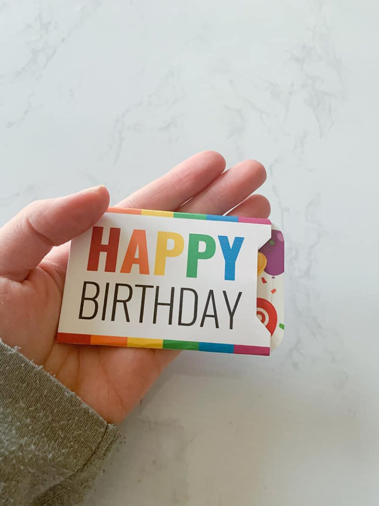 Free Printable Gift Card Holder Happy Birthday Instant