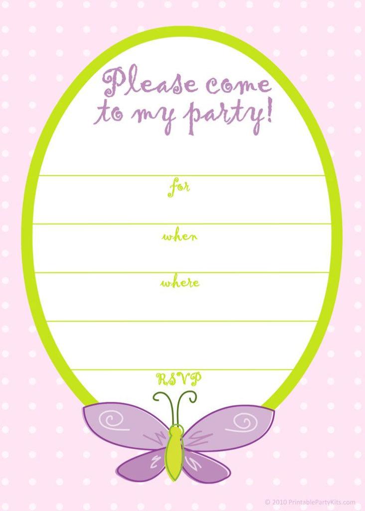 Free Printable Girls Birthday Invitations FREE Printable