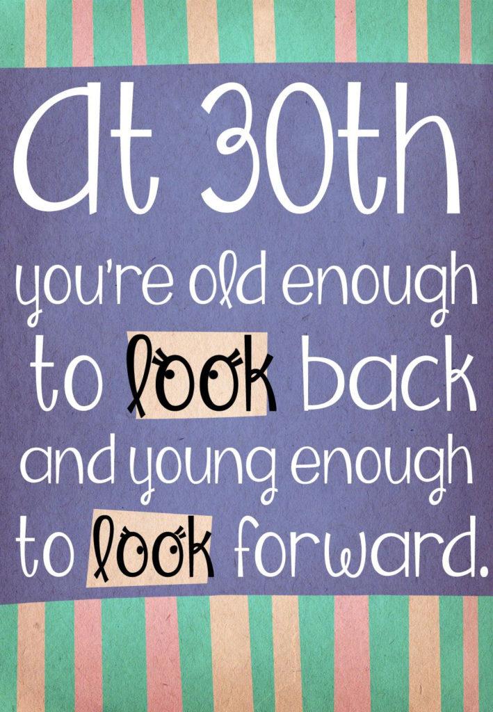 Free Printable Happy 30Th Greeting Card 30th Birthday