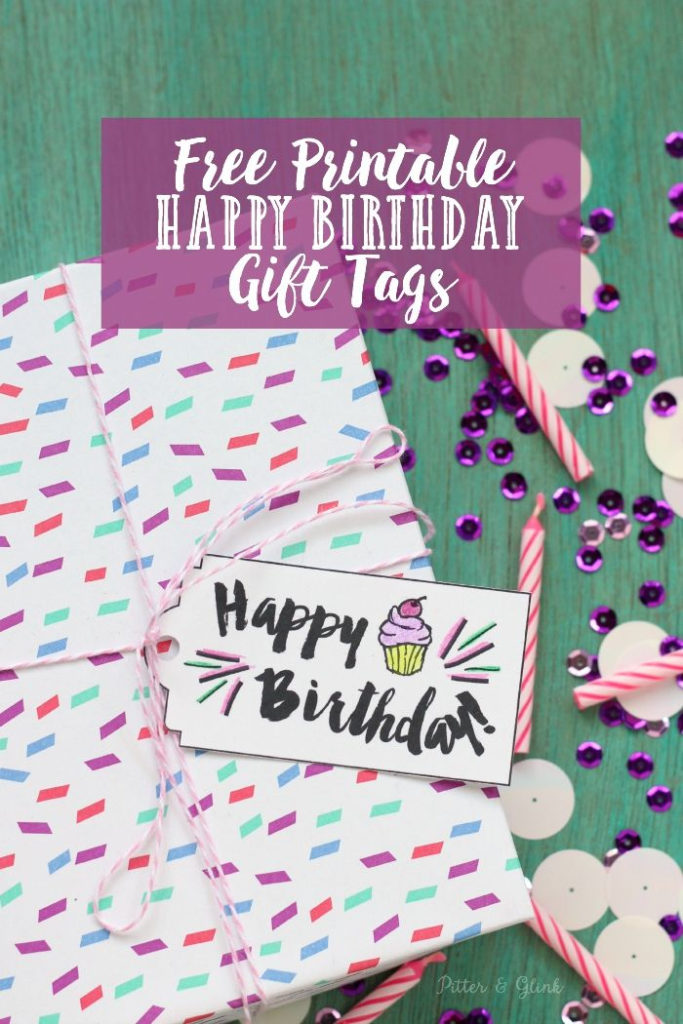 Free Printable Happy Birthday Gift Tags Download The Tag