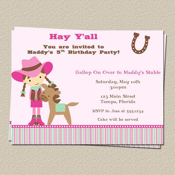 Free Printable Horse Birthday Party InvitationsFREE