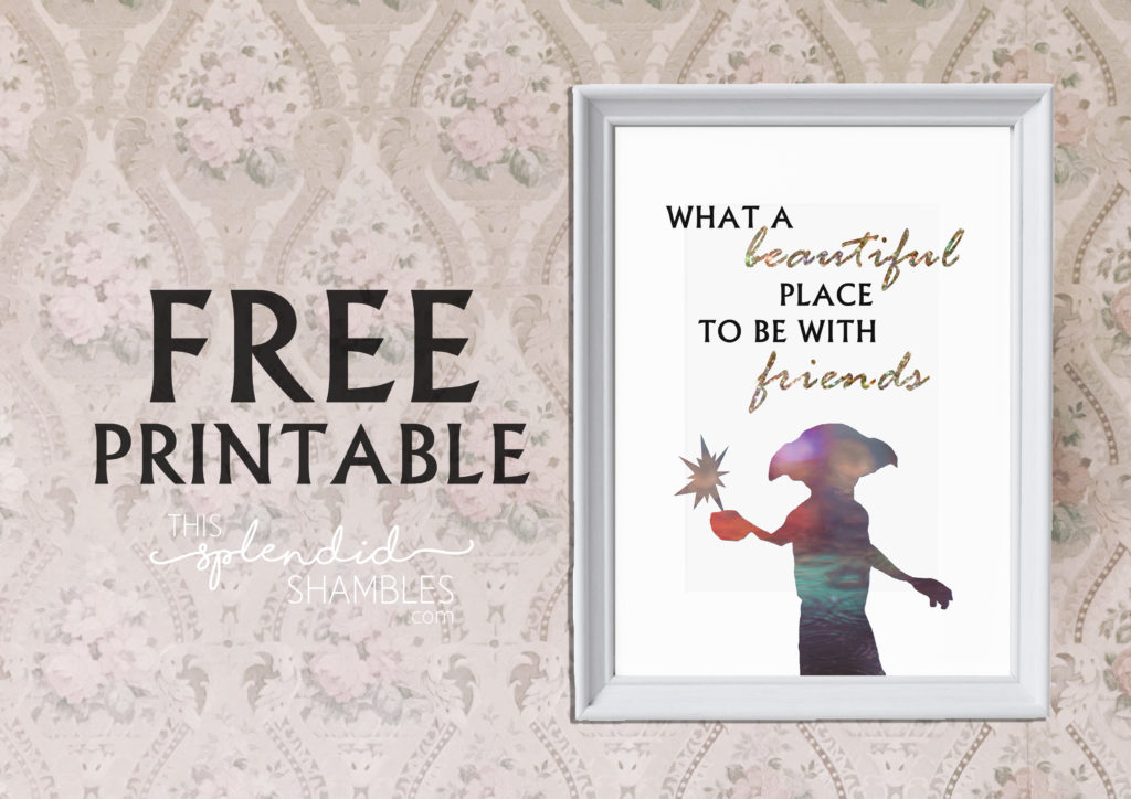 Free Printable In Celebration Of Dobby s Birthday This