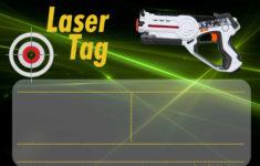 Printable Birthday Invitations Laser Tag