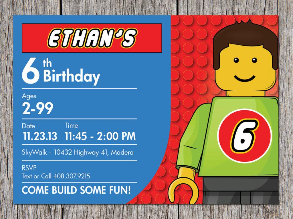 Free Printable Lego Birthday Invitations Drevio
