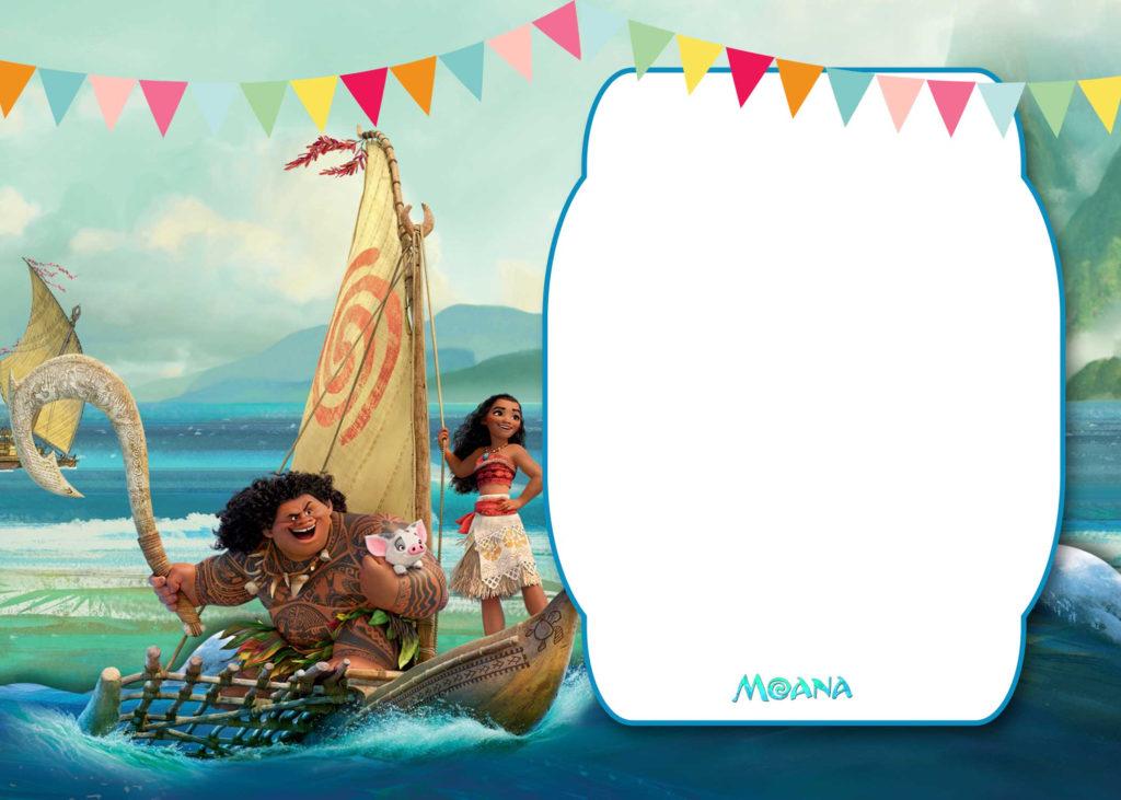 FREE Printable Moana 1st Invitation Template FREE