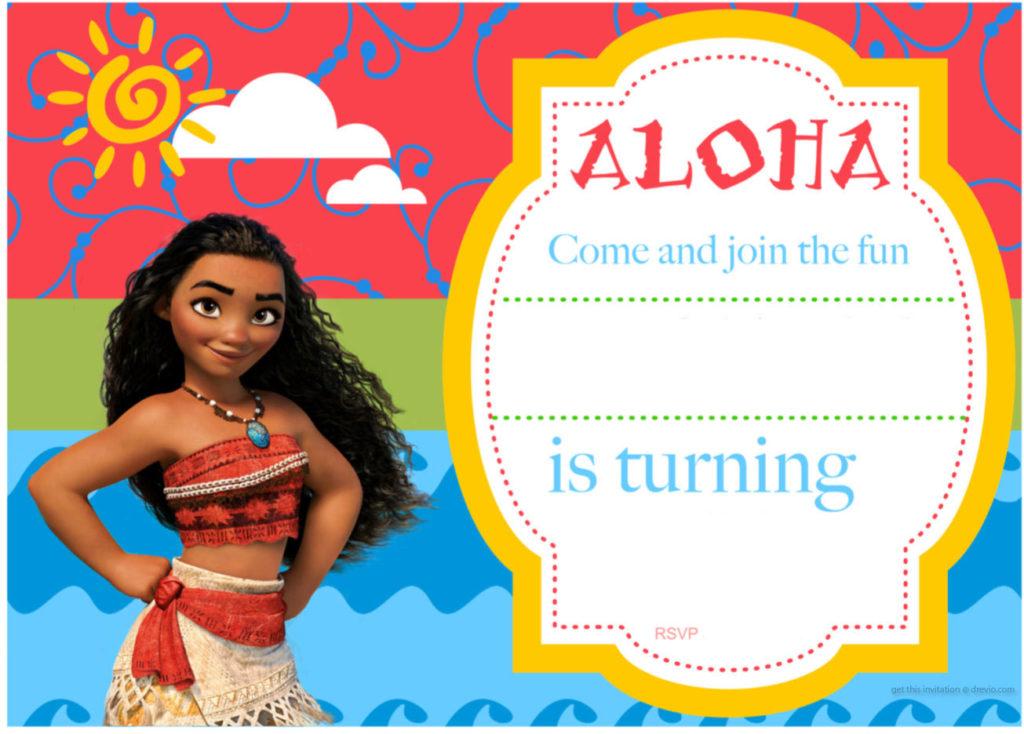 Free Printable Moana Birthday Invitation DolanPedia