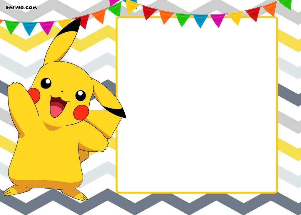 FREE Printable Pokemon Invitation Templates DREVIO