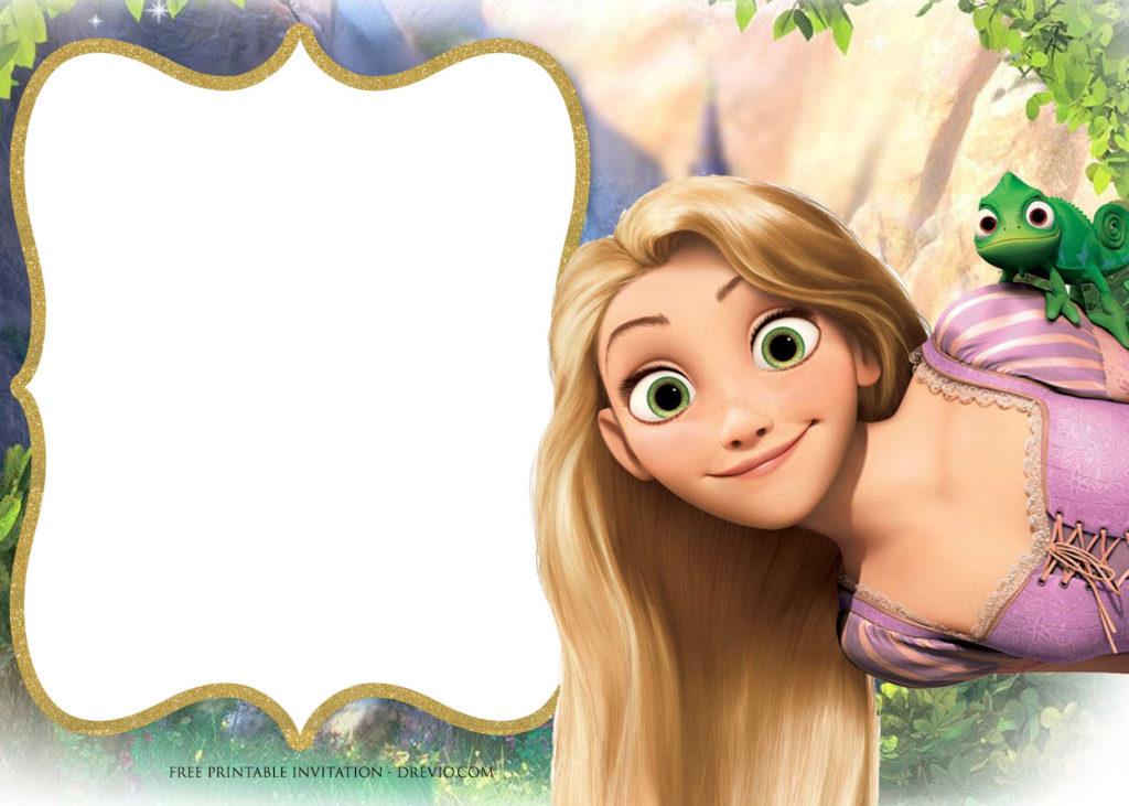FREE Printable Princess Rapunzel Invitation Templates DREVIO