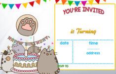 Pusheen Birthday Card Printable