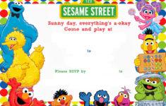 Free Printable Sesame Street Birthday Invitation DREVIO