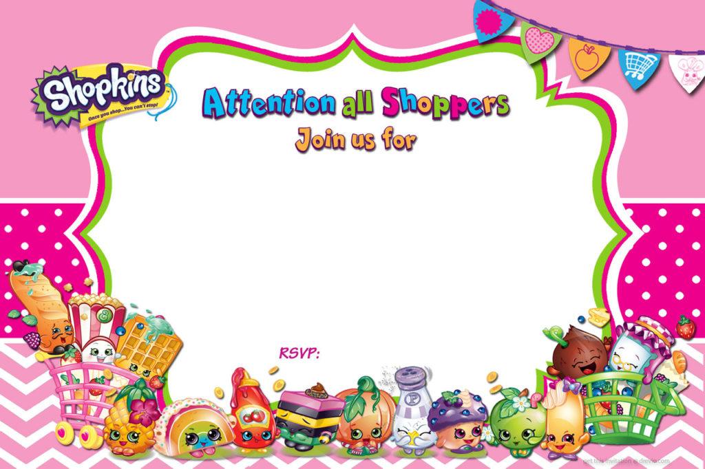 Free Printable Shopkins Birthday Invitation DolanPedia