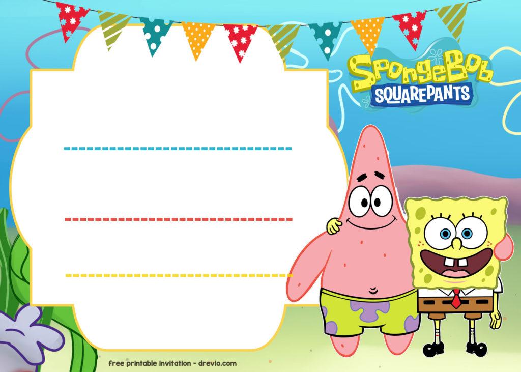 FREE Spongebob Birthday Invitation Template DREVIO