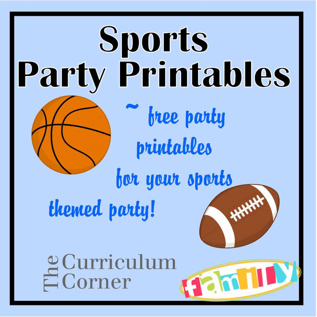 FREE Sports Party Printables Include Candy Bar Wrappers