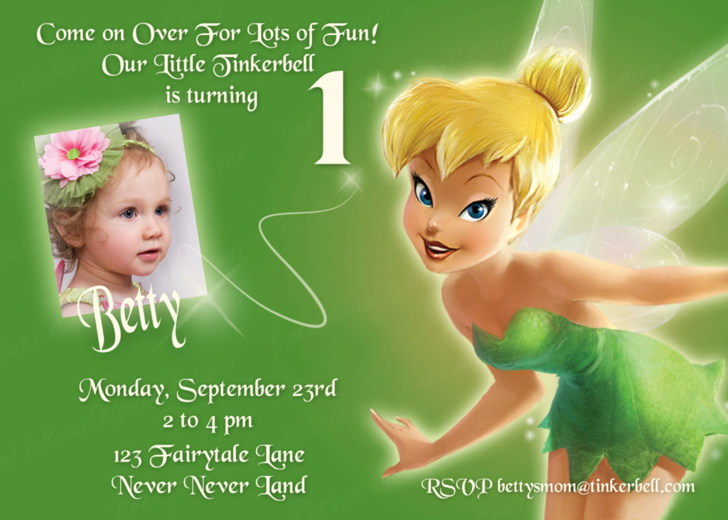 FREE Tinkerbell Birthday Invitations FREE Printable