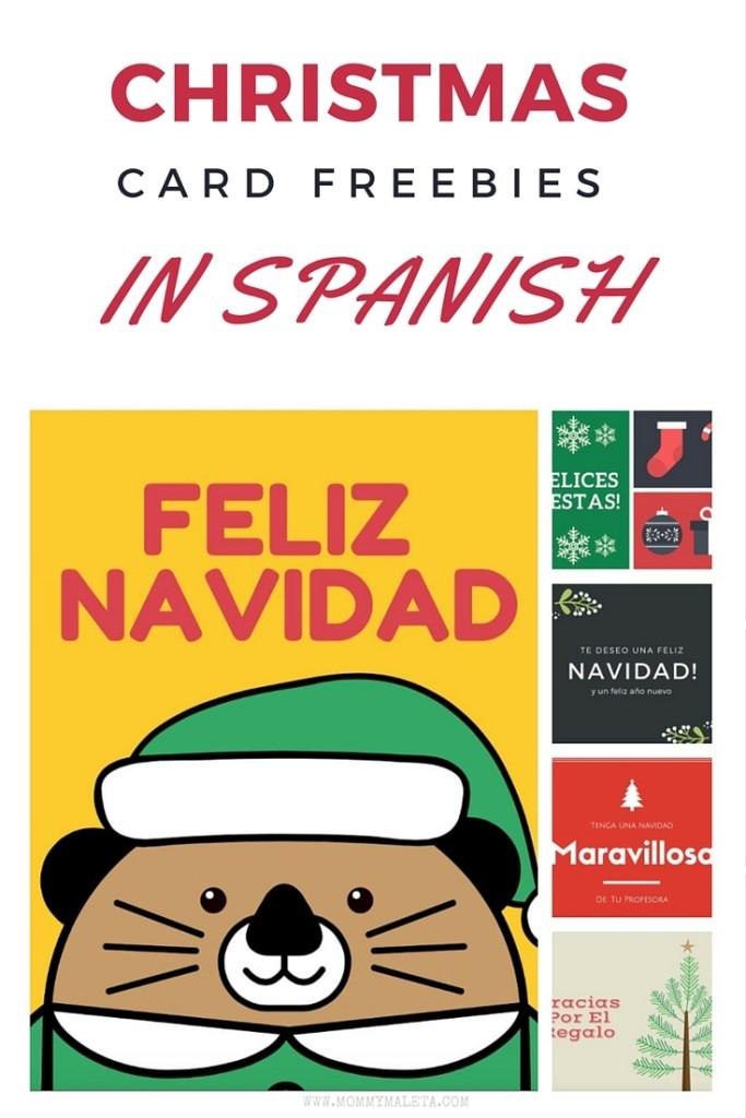 Freebie Christmas Card Printables In Spanish MommyMaleta