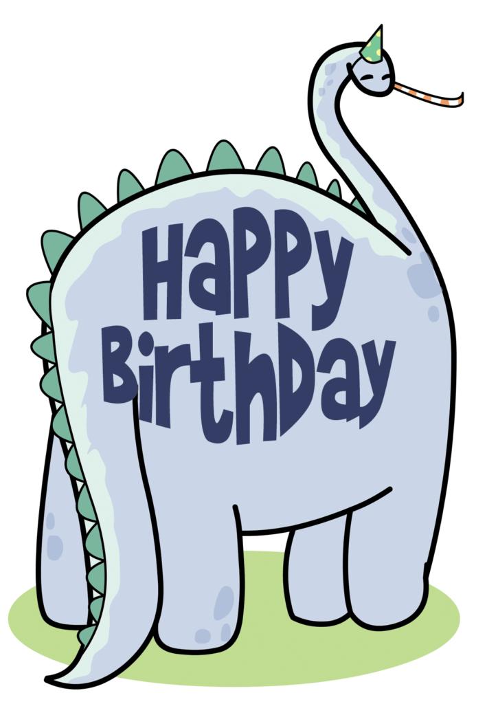 Friendly Dinosaur Birthday Card Greetings Island