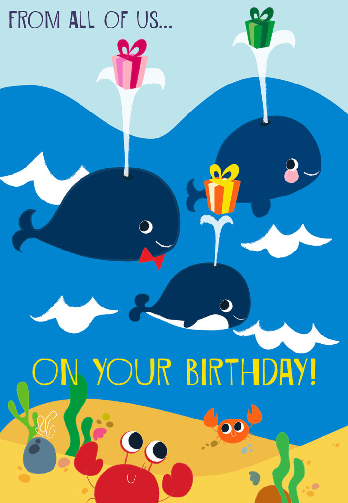 From All Of Us Birthday Card Free Greetings Island