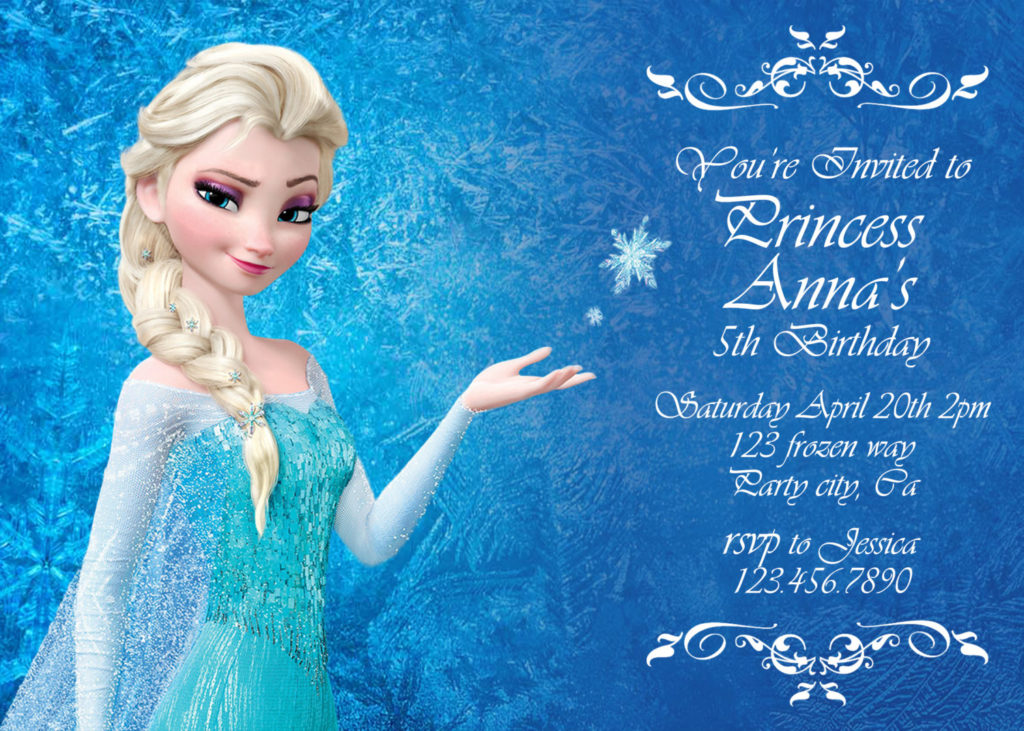 Frozen Birthday Invitation Disney s Frozen By