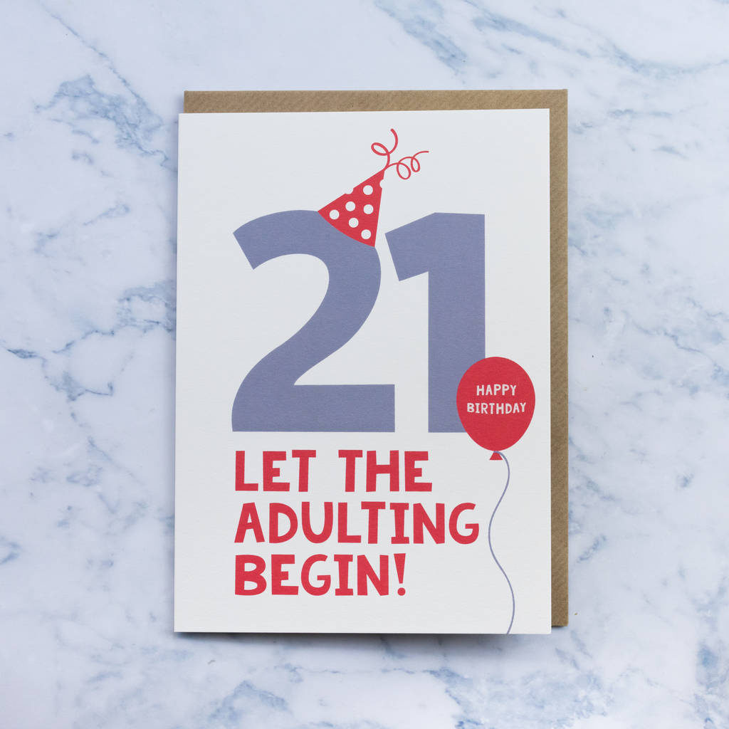 Fun 21st Birthday Card By Paperpaper Notonthehighstreet