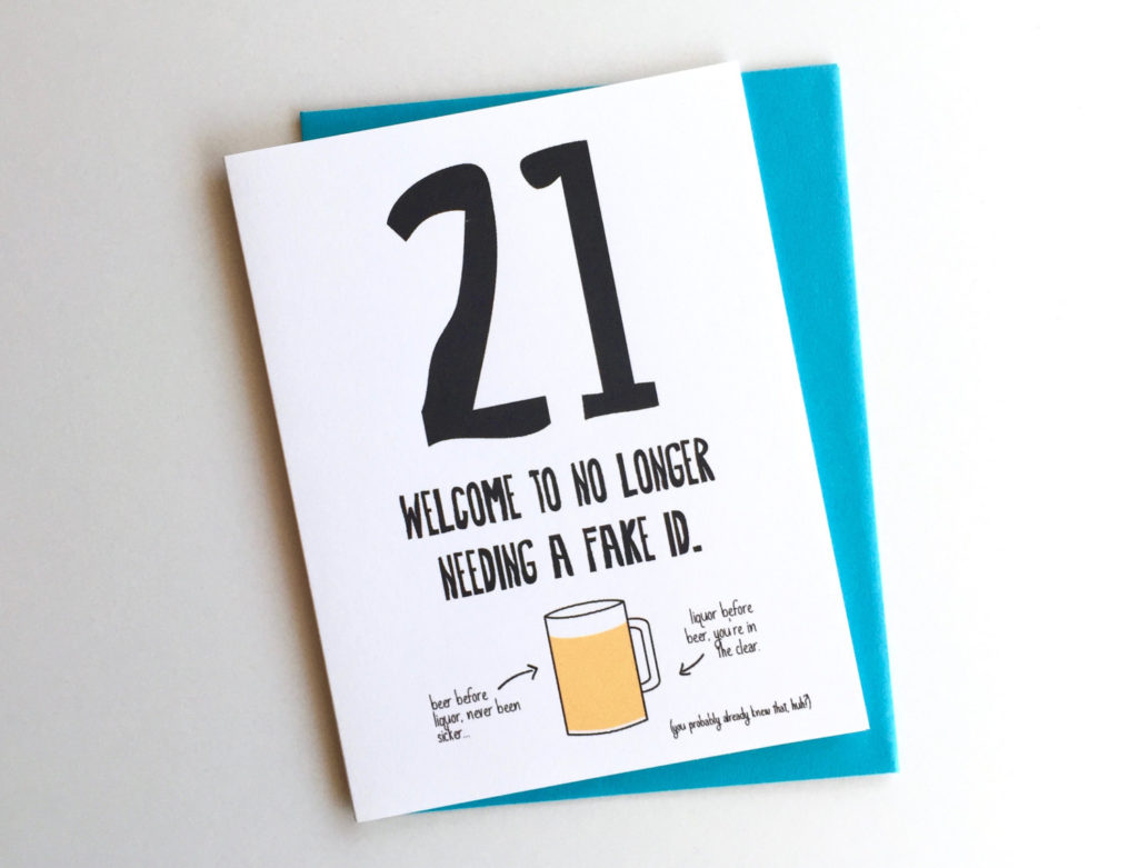 Funny 21st Birthday Card 21st Birthday Card