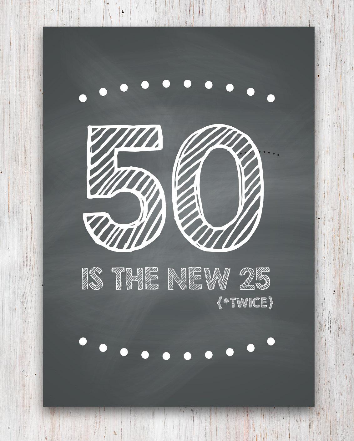 Funny 50th Birthday Card Printable