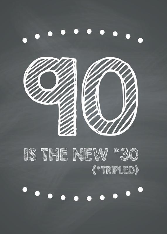 Funny 90th Birthday Card Printable
